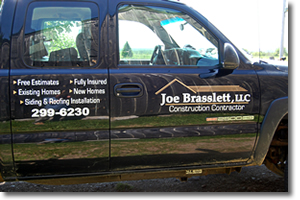 Truck decals and lettering